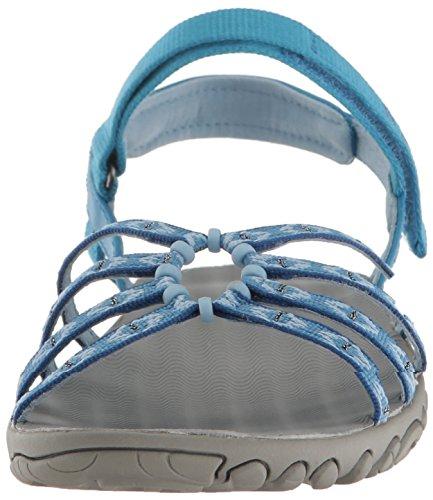 Teva W Kayenta Ws, Zapatillas de Atletismo para Mujer Azul (Carmelita Blue)