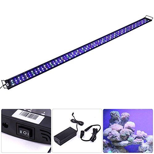 """AJP Distributors LED SMD 72""""-84"""" White Blue Red Aquaruim Fish Tank Light Bar Extendable Bracket 2 Mode 174 LED 3420 Lumen"""