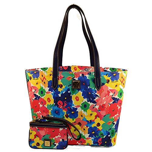 Dooney & Bourke Large Zip Shopper w/ Wristlet Floral (Floral Shopper)