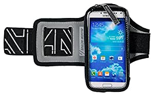 """ClickGo Smart phone Armband with Quick Release and Weather Resistant Sweat Proof Pouch for Running / Exercise / Sports fits phones up to 5.7"""" including iPhone 7 / SE / 6 / 5 / 4  & Galaxy S6 / S5 / S4"""