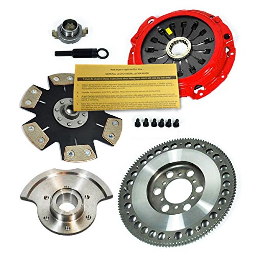 EFT STAGE 4 CLUTCH & RACE FLYWHEEL KIT 93-99 RX-7 TWIN-TURBOW/COUNTER - Stage Disc Twin 7