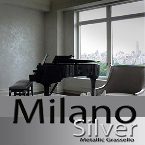 Milano Silver Metallic (Fine) Authentic Venetian Metallic Plaster from Italy. The ultimate in luxury finishes. by FirmoLux
