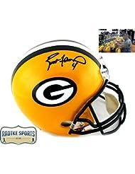 Brett Favre Autographed/Signed Green Bay Packers Riddell Full Size NFL Helmet