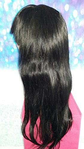 20 INCH HUMAN HAIR LACE FRONT FULL WIG YAKI STRAIGHT LARGE REMY GLUELESS by Angel Hair Haven