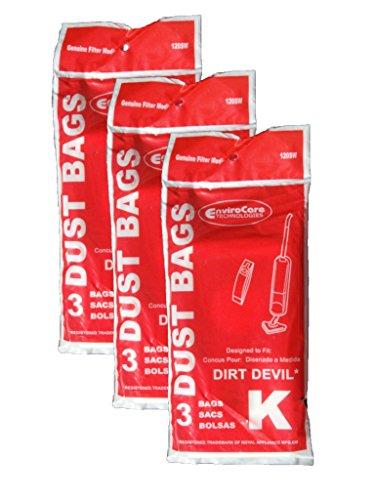 9 Royal Dirt Devil Type K Stick Vac Vacuum Cleaner Bags