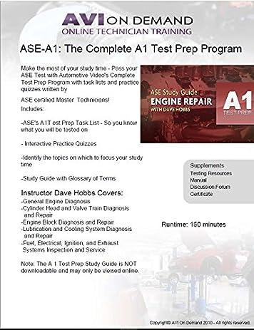 Amazon.com: Complete ASE A1 Engine Repair Test Prep Program ...