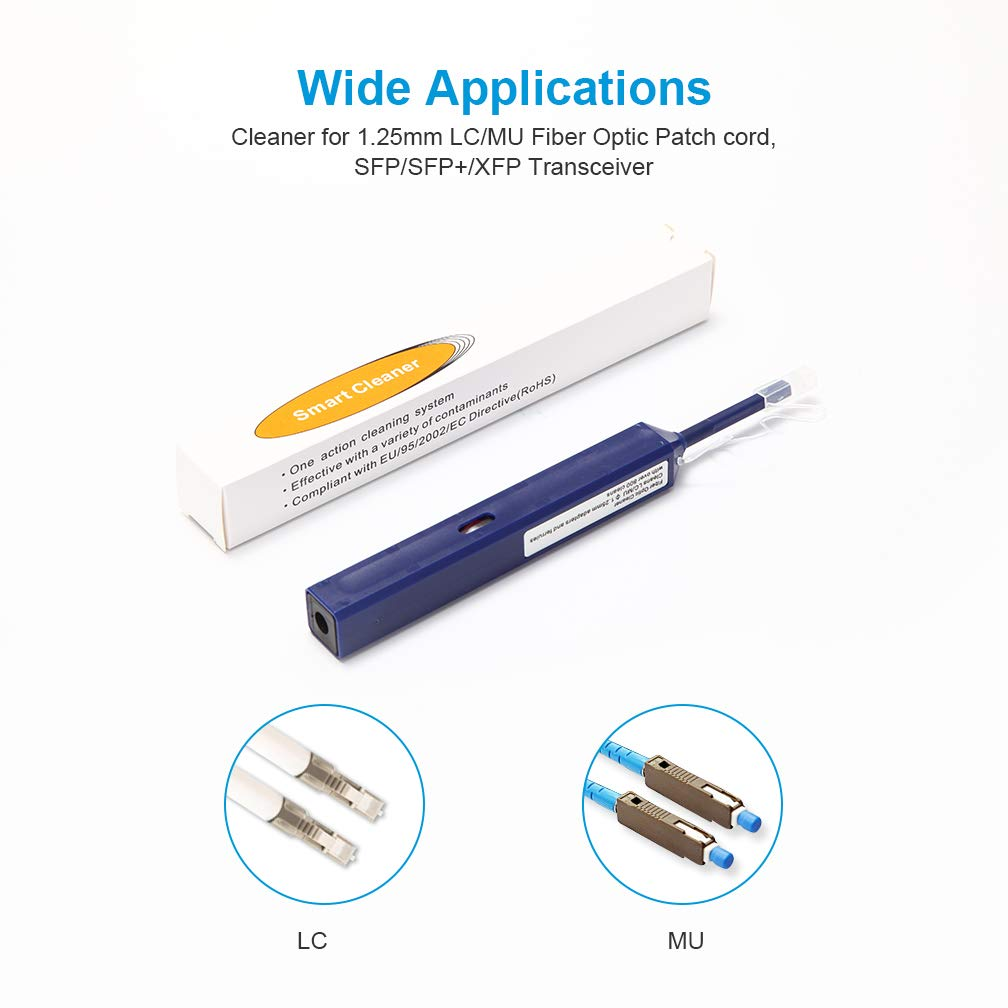 ipolex Fiber Optic Cleaner Pen for 1.25mm LC Connectors and SFP/SFP+/XFP Transceivers by ipolex (Image #2)