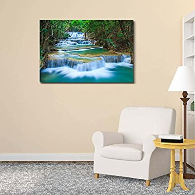 Deep Forest Waterfall in Thailand - Canvas Art Wall Art - 32