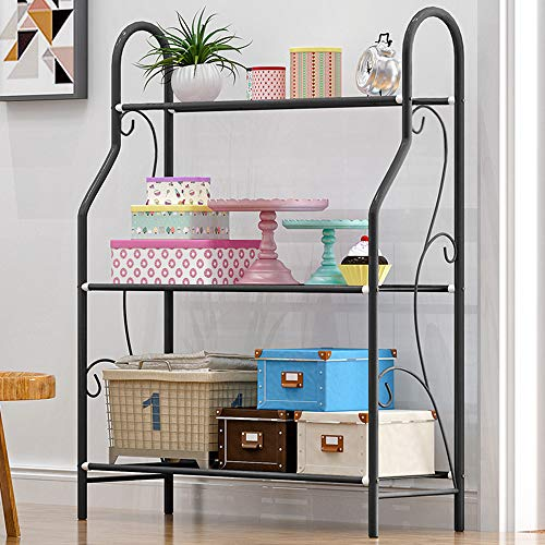 MORINN 3 Tier Metal Plant Stand Scrollwork Design Indoor and Outdoor Flower Rack, Home Storage Organizer Shelf, 27.9''x9.6''x32.6'' by MORINN (Image #3)
