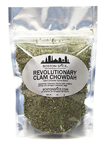 Boston Spice Revolutionary Clam Chowdah Gourmet Seasoning Blend To Make Your Own New England Style Clam Chowder Soup (Approx. 1 Cup of Spice) (Best New England Clam Chowder In Boston)