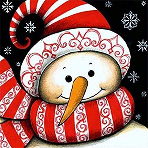 TTKJ DIY 5D Diamond Painting Christmas Snowman Home Decoration Mural Full Diamond Resin Drill (Color : Square -