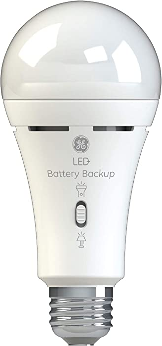 GE Lighting LED+ Battery Backup A21 Bulb, 60-Watt Replacement, Soft White