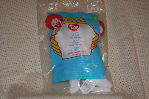 Flip the White Cat - McDonald's Ty Teenie Beanie - 2000 #03