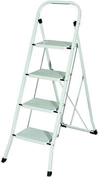 MAURER 23010104 Escalerilla Acero 4 Peldaños Uso Doméstico: Amazon.es: Bricolaje y herramientas