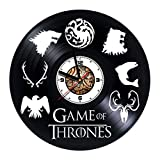 Game of Thrones - Movie - Handmade Vinyl Wall CLock - Get unique gifts presents for birthday, Christmas, anniversary - Gift ideas for boys, girls, men, women, adults, him and her - Unique Design