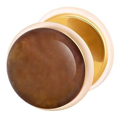 Dilatador Falso Piercing Plug Dorado, Pendiente, Piedra Amatista: Amazon.es: Joyería