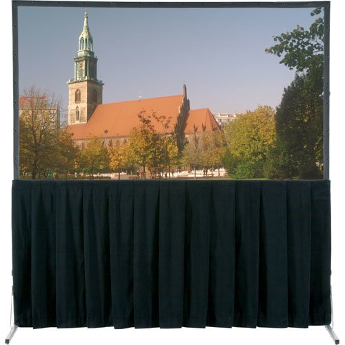 Da-Lite School Office Projector Accessories Ultra Velour Fast-Fold Deluxe Skirt Drapery 7'6