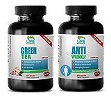 fat burner appetite suppressant - GREEN TEA - ANTI WRINKEL - coenzyme a supplement - (2 Bottles Combo)