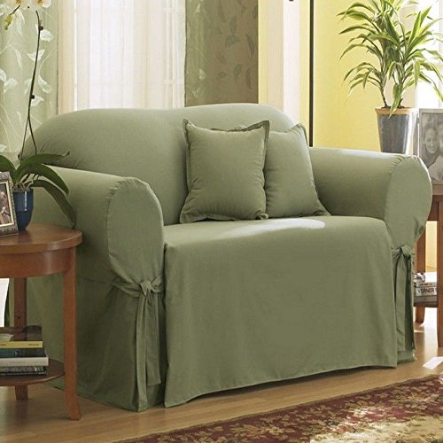 Amazoncom Sure Fit Cotton Duck Loveseat Slipcover Sage