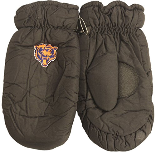 Chicago Bears Black Face - Chicago Bears Black Mittens Insulated W/Bear Face Logo 2122