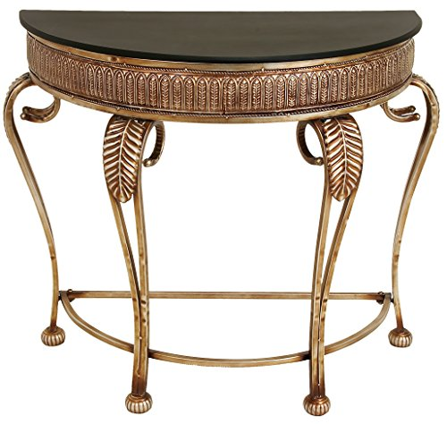 Living Room Round Console Table - Deco 79 Metal Console Table, 41 by 33-Inch