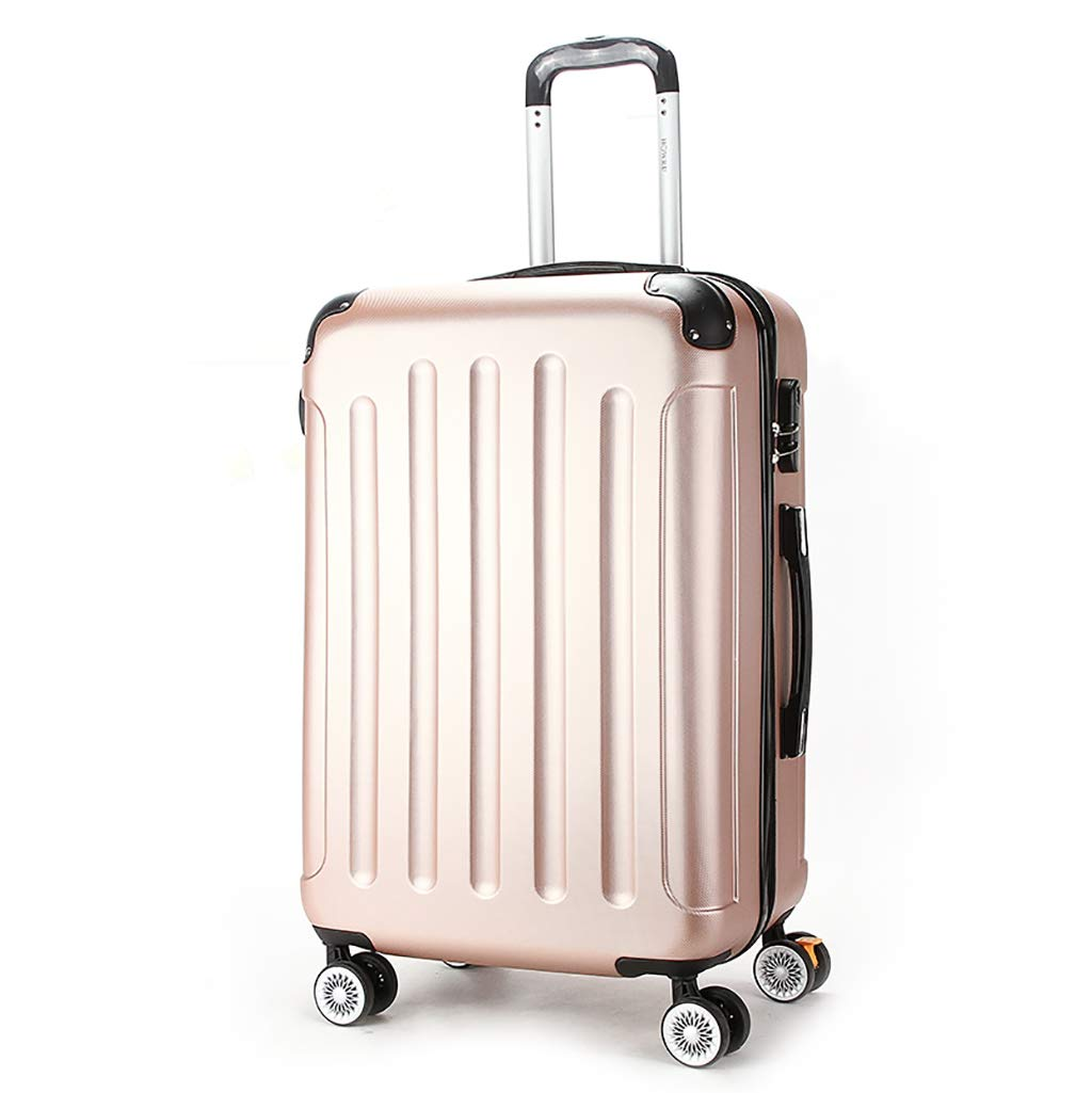ABS荷物の堅い貝のトロリー旅行箱の軽量の堅いスーツケース、4つの紡績工の車輪 31 inches Pink B07MR15L2J