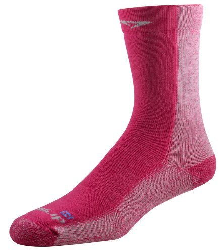 Drymax Cold Weather Run Crew Socks, October Pink, Medium by Drymax