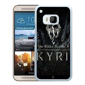 M9 case,The Elder Scrolls Dragon Sign Art White HTC ONE M9 cover