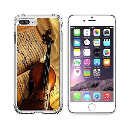 MSD Apple iPhone 6 plus iPhone 6s plus Clear case Soft TPU Rubber Silicone Bumper Snap Cases iPhone 6plus/6s plus IMAGE of violin music string concert musical sound note instrument - Orch Violin