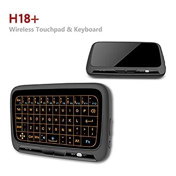 simcast Panel de mini combo de teclado inalámbrico ratón Touchpad y toda superficie táctil de gran ...