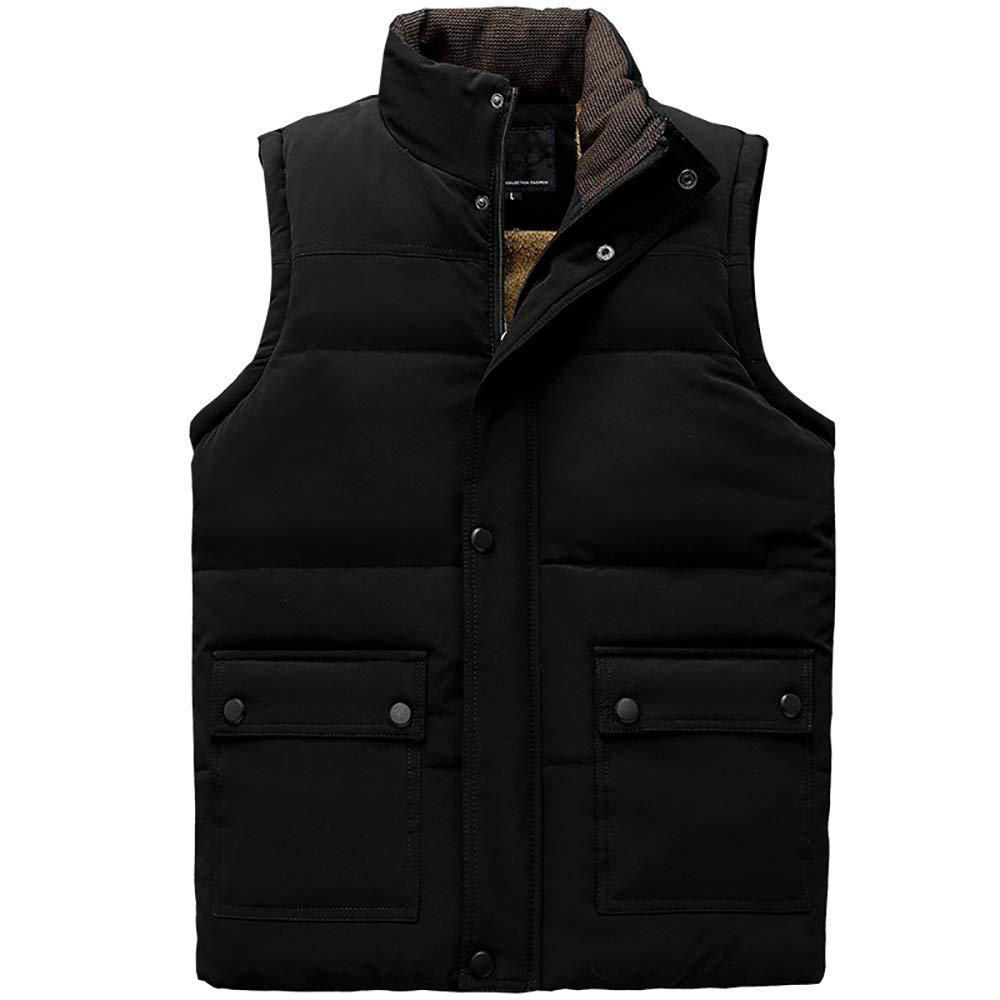 BESHU Men& 039;s Outdoor Quilted Vest, Warm Vest Casual Vest