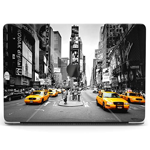 Wonder Wild Case for MacBook Air 13 inch Pro 15 2019 2018 Retina 12 11 Apple Hard Mac Protective Cover Touch Bar 2017 2016 2015 Plastic Laptop Print Yellow Taxi