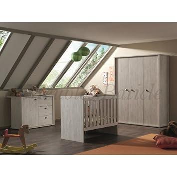 Schlafzimmer Komplett ELODIE Baby Eiche: Amazon.de: Küche ...