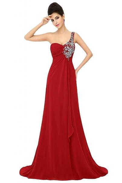 Sunvary Formal Prom de noche vestidos gasa a-line One Shoulder madre de novia fiesta