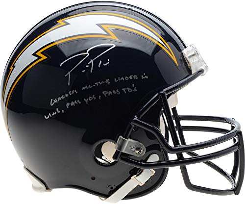 Philip Rivers Los Angeles Chargers Autographed Riddell Throwback 88-06 Authentic Pro-Line Helmet with Multiple Inscriptions - Limited Edition of 17 - Fanatics Authentic Certified