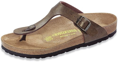 Birkenstock Women's Gizeh Gold Brown Birko-Flor Sandals 42 R (US Women's 11-11.5) ()