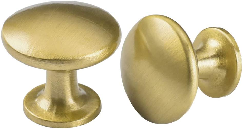 goldenwarm Kitchen Cabinet Knobs Gold Knobs for Cabinets - LS6050GD Metal Drawer Knobs Desk Drawer Knobs Unique Furniture Hardware Diameter:1-1/10in, 25Pack