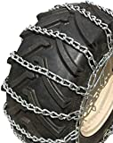 TireChain.com Heavy Duty, 2-Link Lawn and Garden Tire Chains, Priced per Pair. 23 X 9.50 X 12, 23 X 10.50 X 12