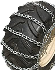 Heavy Duty Tire Chain is made of thicker cross chain and thicker side chain and fasteners. Twisted Link Chains are recommended for pavement and concrete. 2 link snow chains, cross chains occur every other side chain link giving consistent rid...