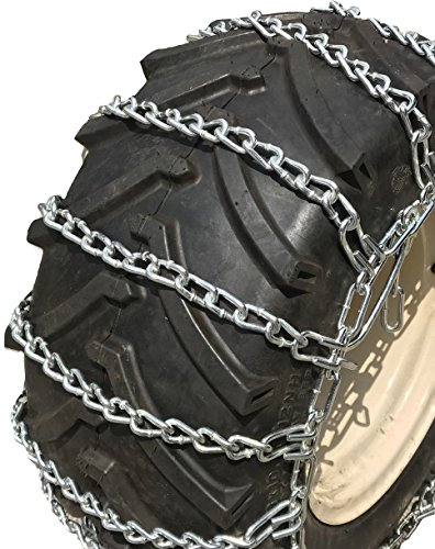TireChain.com 4.80 x 8, 4.80 8 Heavy Duty Tractor Tire Chains Set of 2