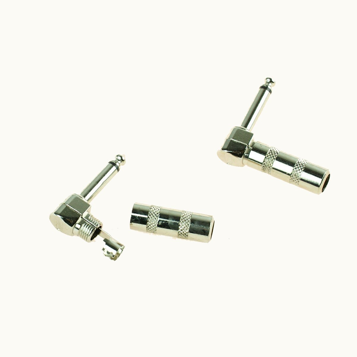 1//4/'/' 2 x Right Angle Male Mono Phone Plug Guitar Cable Audio Connector Jack