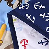 Wowelife Crib Bedding Sets for Boys Blue Pirates