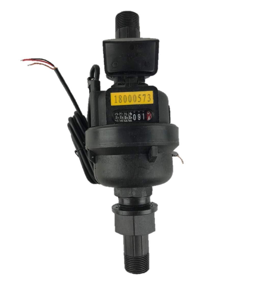 "DAE PVM-75P Positive Displacement, Plastic Water Meter with Pulse Output, 3/4"" NPT Couplings, Measuring in Gallon"