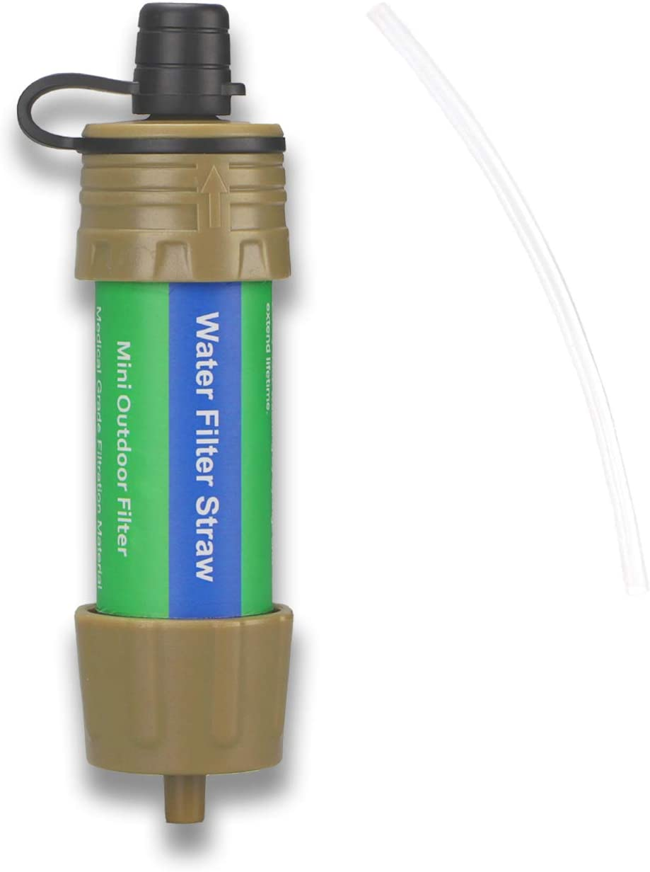 Purewell Protable Water Filter Straw 0.01 Micron Outdoor Filter for Survival Camping and Emergency Preparedness Hiking Traveling