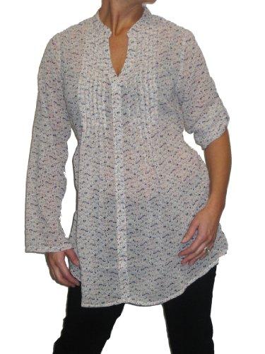 Chiffon Shirt Tunic Winter White (8) ()