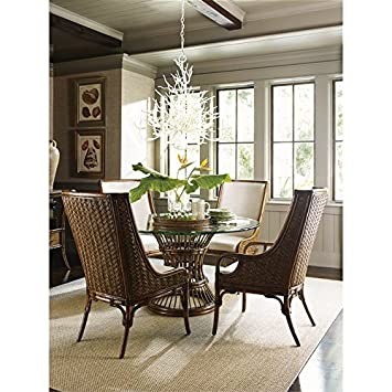 Tommy Bahama Bali Hai 5 Piece Dining Set In Warm Brown