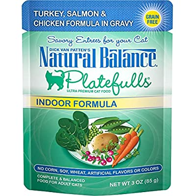 Natural Balance Platefulls Turkey & Salmon in Gravy Indoor Formula Adult Wet Cat Food