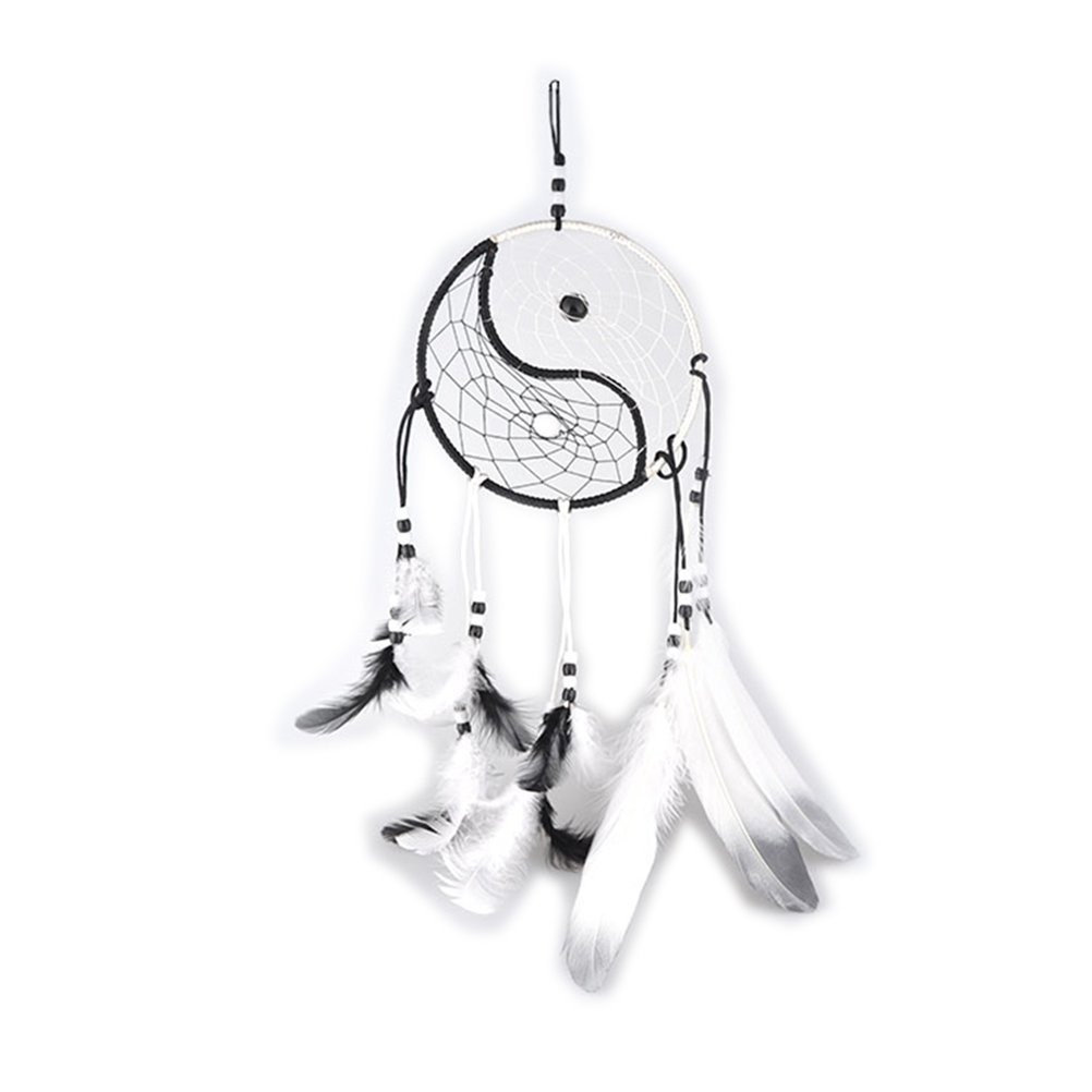 Black+White ROSENICE Attrape-r/êves Dream Catcher Handmade plume Wall Hanging dreamcatcher