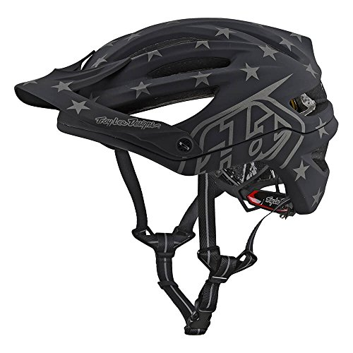 Troy Lee Designs A2 Superstar Mountain Bike Adult Helmet 2018 with MIPS Protection and X-Static Liner meets/exceeds CPSC CE-EN AS/NZS X-Large/2X-Large Black by Troy Lee Designs