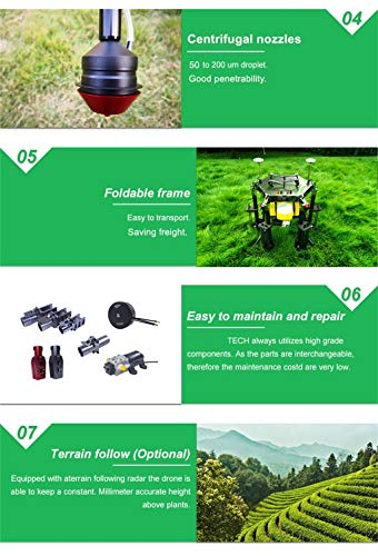 SHIYANLI 20L Drone Agricultural Sprayer, Plant Protection Drone for Crop Spraying,20L